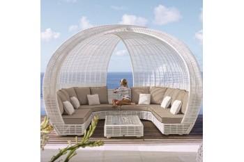 Круглый диван с навесом DODONA
