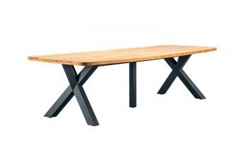 Обеденный стол SUNS Atlanta 300 x 105 FSC teak Matt royal grey/Matt white