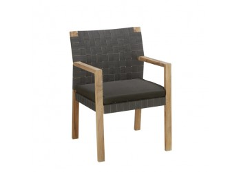 Обеденный стул Apple Bee Square 57 х 59 Natural/New Charcoal