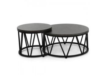 Комплект из двух кофейных столиков Apple Bee Menton Bronze/Black