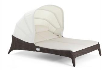 Двойной шезлонг-кровать с навесом Luxor BELLANO L78