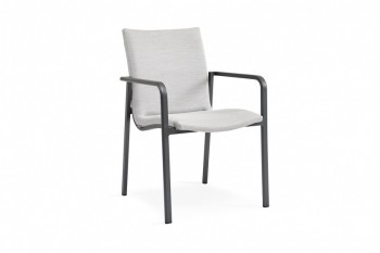 Обеденный стул SUNS Anzio 57 х 56,5 Matt royal grey/Carbon light grey