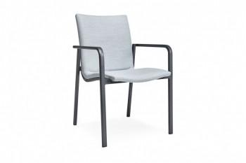 Обеденный стул SUNS Anzio 57 х 56,5 Matt white/Carbon light grey