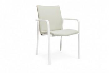 Обеденный стул SUNS Anzio 57 х 56,5 Matt white/Camel sand