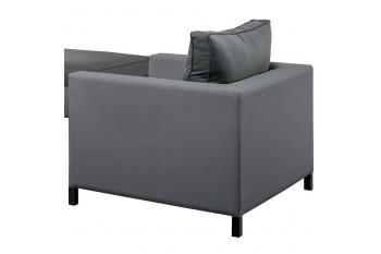 Кресло SUNS Menor 88 х 98 Matt royal grey/Black grey/Anthracite