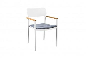Обеденный стул SUNS Cecina 54 х 57 Matt white/Taupe Grey