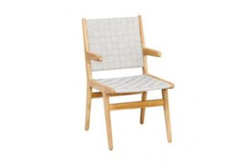 Обеденный стул с подлокотниками Apple Bee Juul Nature
