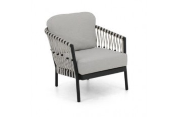 Кресло Apple Bee Menton 72 х 82 Grey Silk/Black