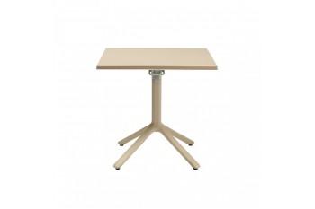 Обеденный стол SCAB ECO 80 x 80 с гладкой столешницей Белый/Коричневый/Антрацит