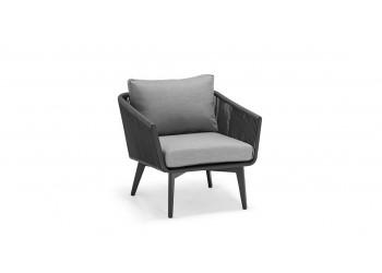 Кресло COUTURE DIVA 76 x 80 Антрацит/Серый