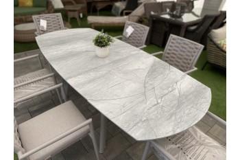 Обеденный стол раскладной COUTURE TWIST 140-220 x 100 Бежевый/Серый