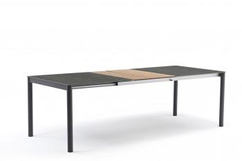 Обеденный стол раскладной COUTURE POLO 180-246 x 100 Антрацит/Натуральный