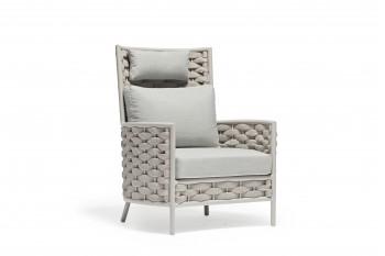 Кресло с высокой спинкой COUTURE LOOP 86 x 83 Бежевое