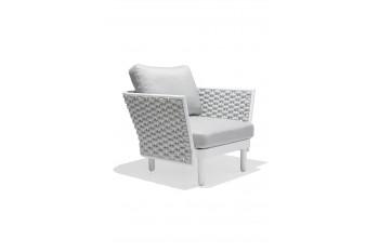 Кресло AURA AU 03WB LEON 90 x 84.5 Белый/Бежевый/Коричневый