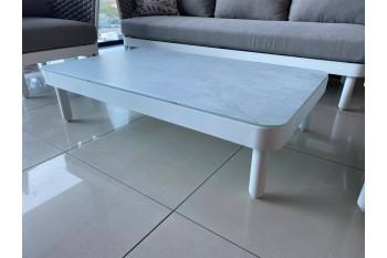 Кофейный стол AURA AU 04WB LEON Белый/Серый