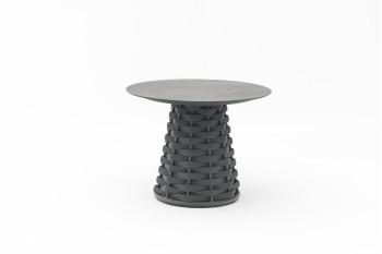 Кофейный столик круглый COUTURE HUG d90 Антрацит
