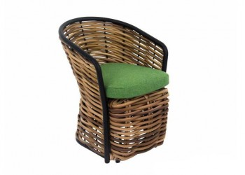 Обеденный стул Apple Bee Cocoon 60 х 63 Mocca/Green