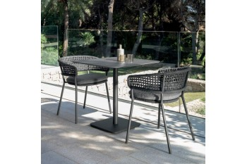 Стол MOON ALU TABLE BLACK 80x80 (MONALUTAV80)