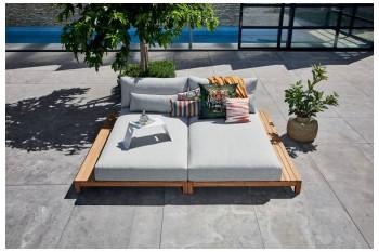 Двойная кушетка SUNS Portofino lounge set 214 х 264 FSC teak