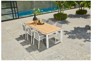 Обеденный стол SUNS Vario 180 тиковое дерево