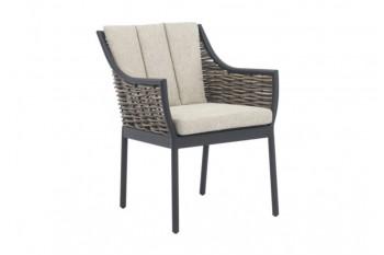 Обеденный стул Apple Bee Milou 62 х 67 Black/Nature Grey