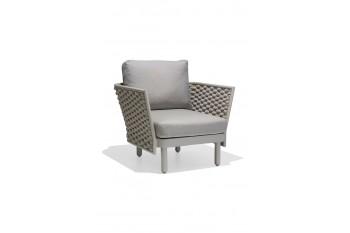 Кресло AURA LEON 90 x 84.5 Белый/Бежевый/Коричневый