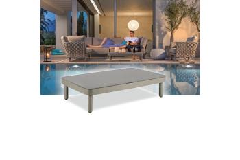 Кофейный стол AURA LEON 120 x 75 Антрацит/Серый